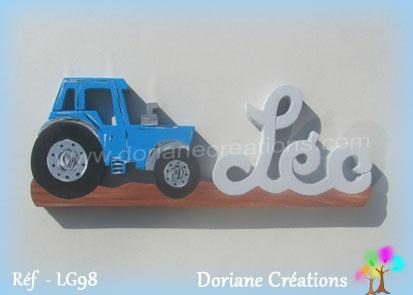 Prenombois leo tracteur bleu