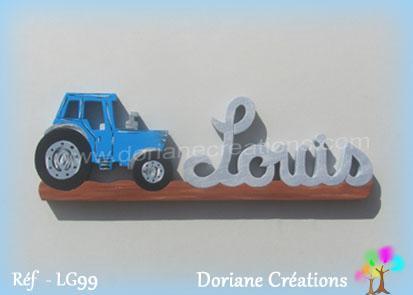 Prenombois louis tracteur bleu