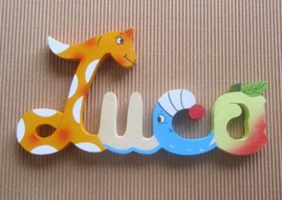 Prénom lettres en bois Luca