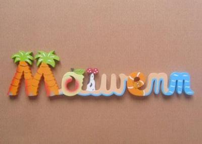 Prénom lettres en bois Maïwenn