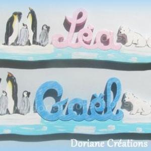 Prenombois manchots oursons polaires