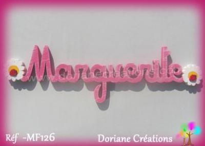 Prénom lettres en bois Marguerite