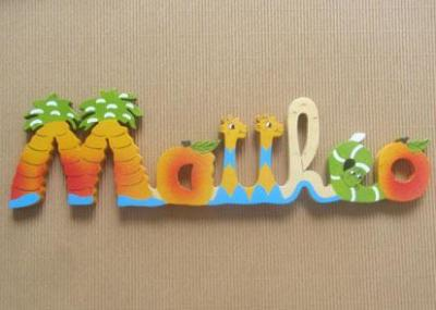 Prénom lettres en bois Matthéo