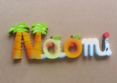 Prénom lettres en bois Naomi