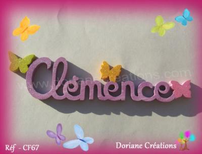 08 lettres - prénom bois papillons unis