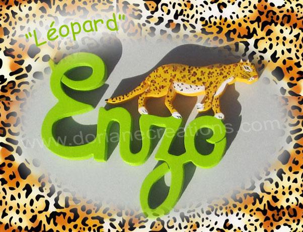 Prenoms en bois leopard 4l