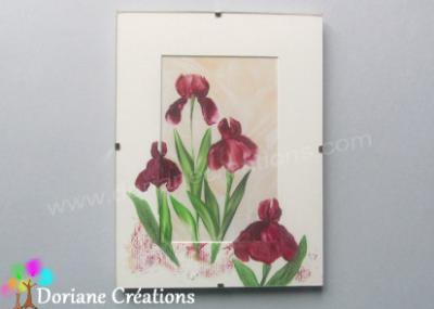 Sous-verre 18x24 cm iris